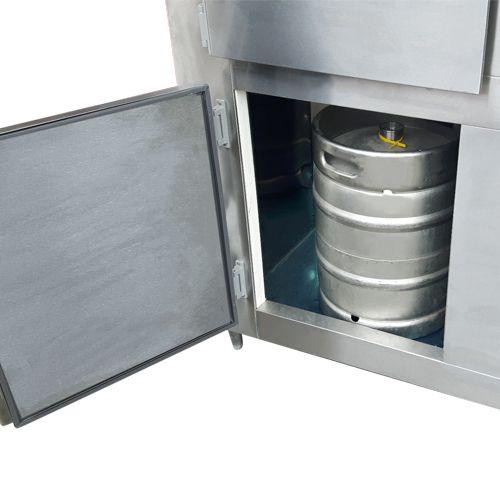 Balcão Chopp Refrigerado Chopeira Aço Inox Para 2 Barril com Tulipeira