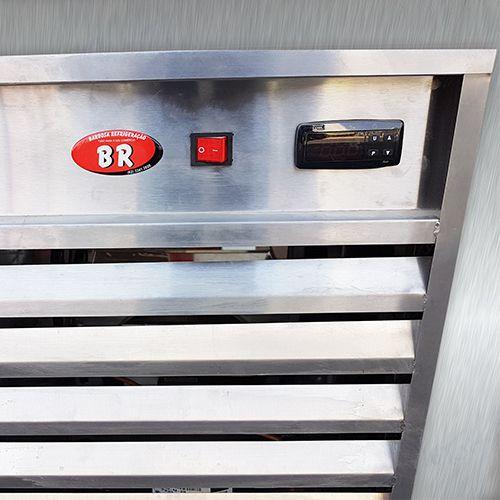 Balcão de Congelamento Aço Inox com Pia 1,80 metros
