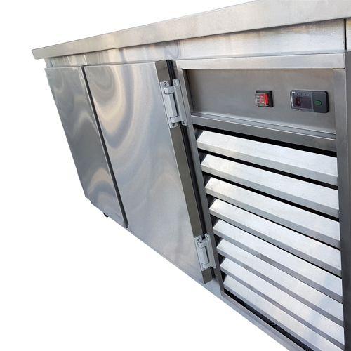 Balcão de Serviço Congelamento em Aço Inox 1,80 metros
