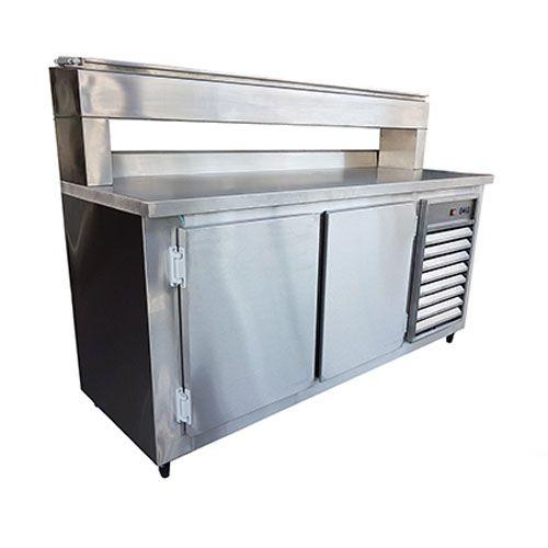Balcão Refrigerado Condimentadora Suspenso