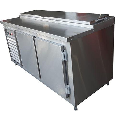 Balcão Refrigerado pizzaiolo  Aço Inox Condimentador