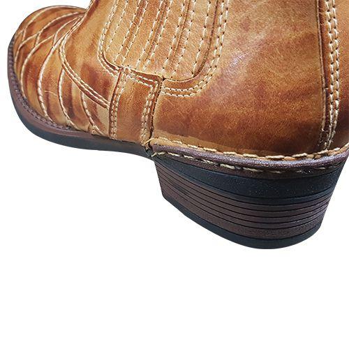 ... Bota Botina Masculina Couro Nobre Escamado Whisky Cowboy Country -  Barbosa Refrigeração ... 1ff7a6a717e