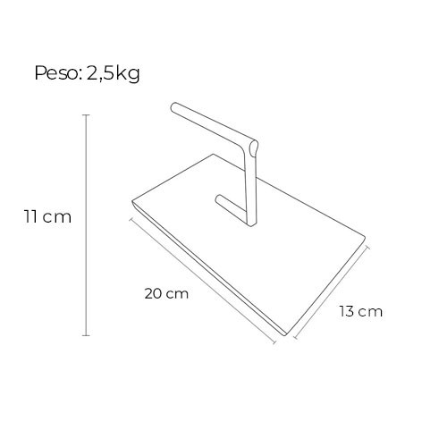 Kit 3 Prensador Inox Burger + Regua Para Pão + Porta Comanda