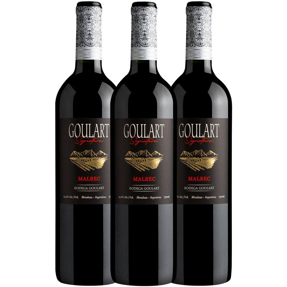 Kit 3 garrafas - Goulart Signature Malbec 2020
