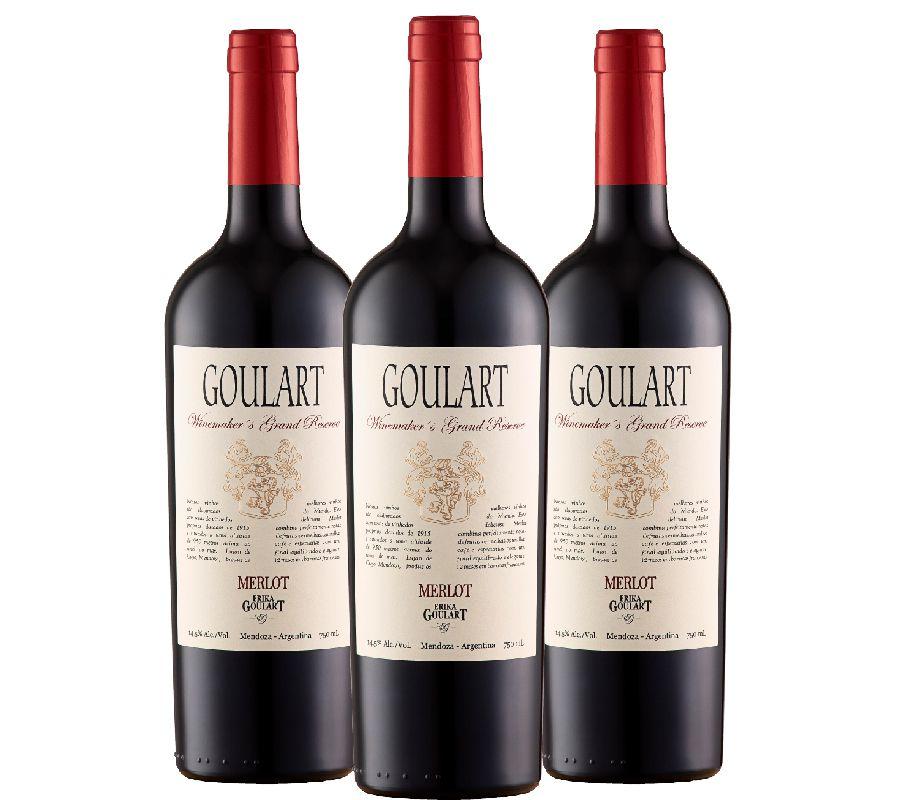Kit 3 Garrafas -  Winemakers Grand Reserve Merlot 2015