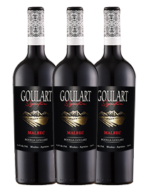 Kit 3 gfs. Goulart Signature Malbec 2020 - 750 ml