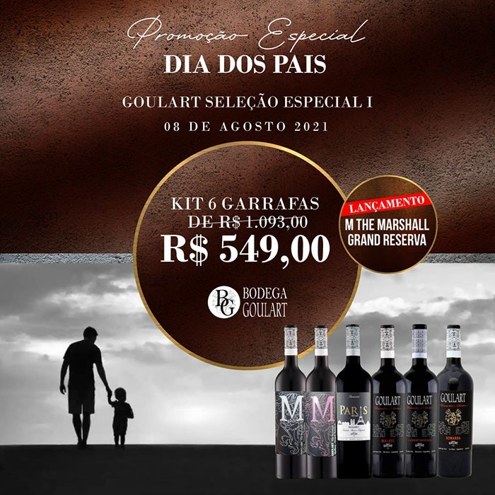 Kit 6 Garrafas - GOULART SELEÇÃO ESPECIAL I com LANÇAMENTO 2 M THE MARSHALL GRAND RESERVA