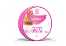 Depilsam Cera Cremosa Facial de Micro-Ondas Mel 40gr