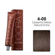 Igora Color10 4-00 Castanho Médio Natural Extra