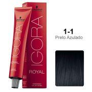 Igora Royal 1-1 Tom de Mistura Preto Azulado