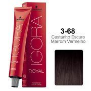 Igora Royal 3-68 Castanho Escuro Marrom Vermelho