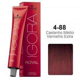 Igora Royal 4-88 Castanho Médio Vermelho Extra
