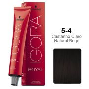 Igora Royal 5-4 Castanho Claro Natural Bege