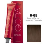 Igora Royal 6-65 Louro Escuro Marrom Dourado
