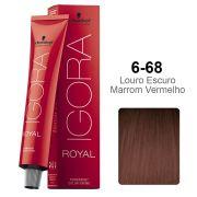 Igora Royal 6-68 Louro Escuro Marrom Vermelho