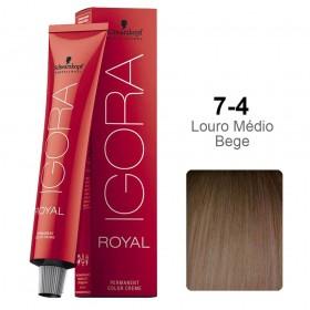 Igora Royal 7-4 Louro Médio Bege