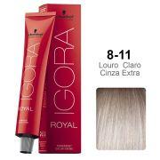 Igora Royal 8-11 Louro Claro Cinza Extra