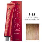 Igora Royal 8-65 Louro Claro Marrom Dourado