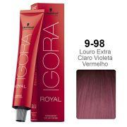 Igora Royal 9-98 Louro Extra Claro Violeta Vermelho