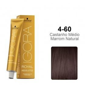 Igora Royal Absolutes 4-60  Castanho Médio Chocolate