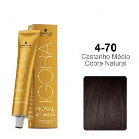 Igora Royal Absolutes 4-70  Castanho Médio Cobre Natural