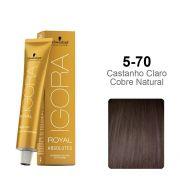 Igora Royal Absolutes 5-70 Castanho Claro Cobre Natural
