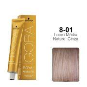 Igora Royal Absolutes 8-01 Louro Médio Natural Cinza