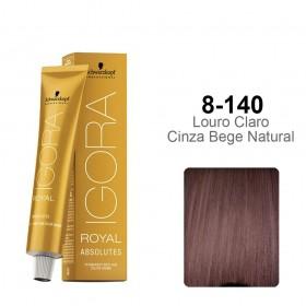 Igora Royal Absolutes 8-140 Louro Claro Cinza Bege Natural