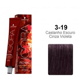 Igora Royal Opulescence 3-19 Castanho Escuro Cinza Violeta