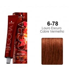 Igora Royal Opulescence 6-78 Louro Escuro Cobre Vermelho