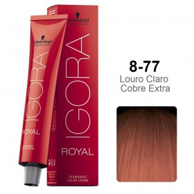 Kit Coloração Igora Royal 3 unidades 8-77 - Ganhe 3 unidades Ox 30 vol 60 ml