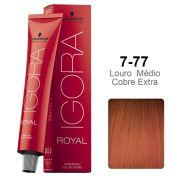 Kit Coloração Igora Royal 7-77 + Ox 10 vol 60 ml