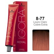 Kit Coloração Igora Royal 8-77 + Ox 40 vol 60 ml