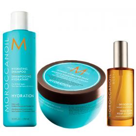 Kit Moroccanoil Hidratante Shampoo 250ml  + Máscara 250ml - Ganhe Body Oil 50ml