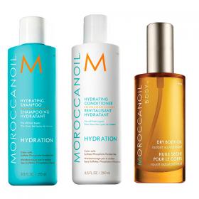 Kit Moroccanoil Shampoo Hidratante  250ml  + Condicionador Hidratante  250ml  - Ganhe Body Oil 50ml
