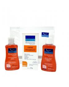 Nupill kit Facial Sabonete líquido + Creme Facial + Loção Tônica