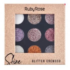 Ruby Rose Paleta de Sombras Shine Glitter