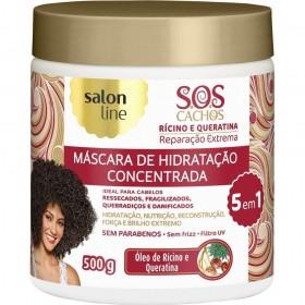 Salon Line Máscara SOS Cachos Rícino e Queratina 500 g