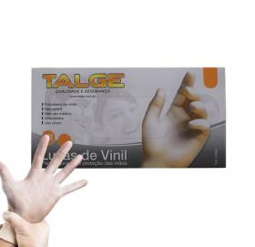 Talge Luva de Vinil P com pó 100 unidades