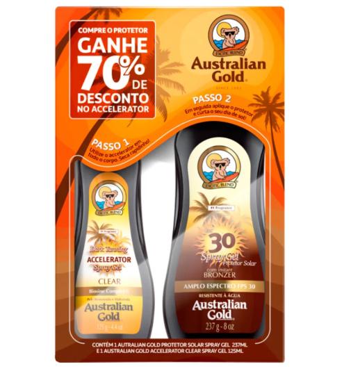 Australian Gold Kit Protetor Solar + Acelerador