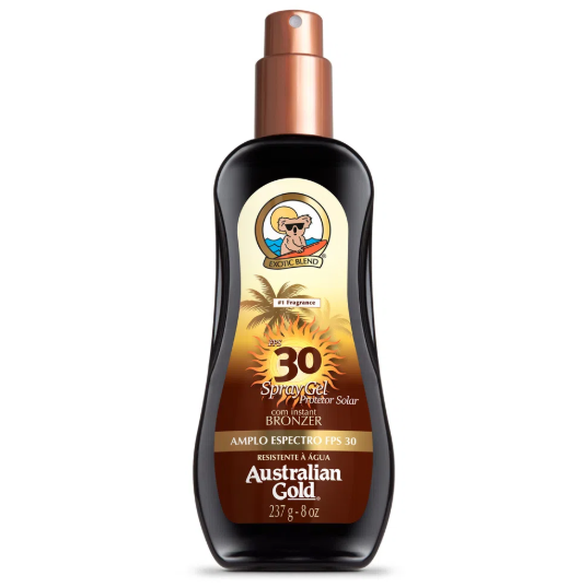 Australian Gold Protetor Solar Instant Bronze Spray PFS 30 237ml