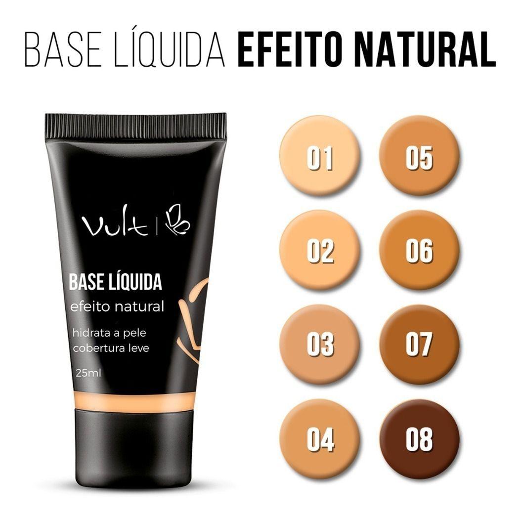 Vult Base Líquida Efeito Natural Cor 03 25ml
