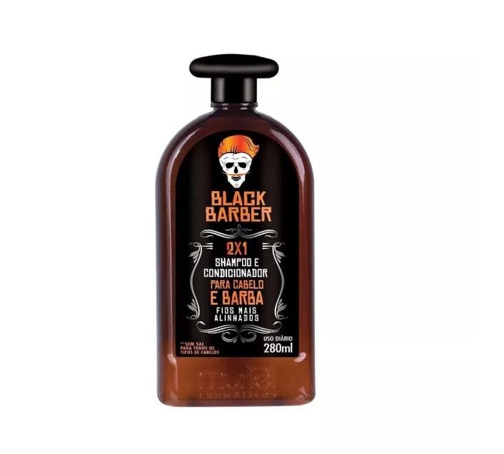 Black Barber Shampoo Anticaspa 2 em 1 280ml