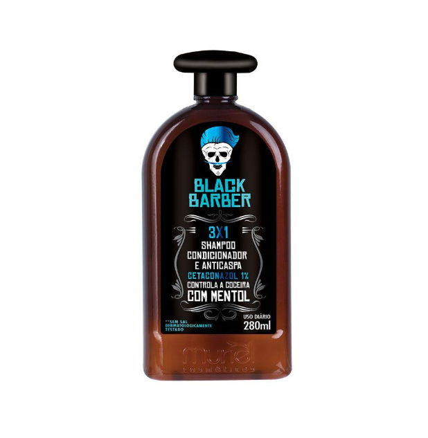 Black Barber Shampoo Anticaspa 3x1 280ml