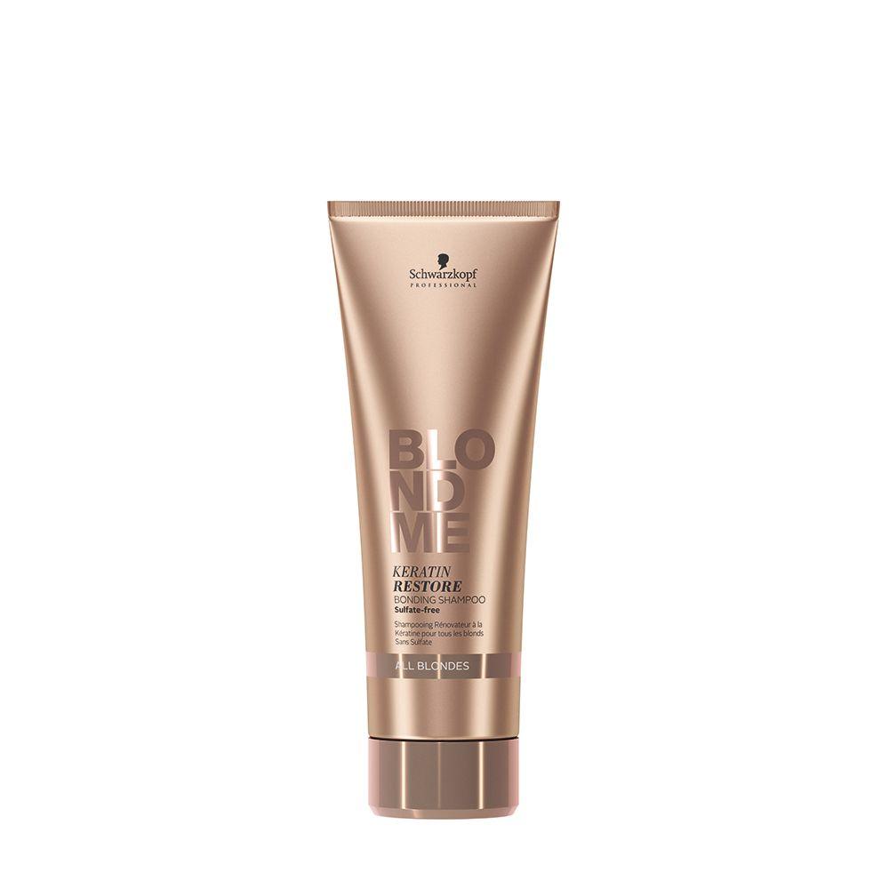 BlondMe All Blondes Shampoo Reparador e Reforçador de Pontes com Queratina 250 ml