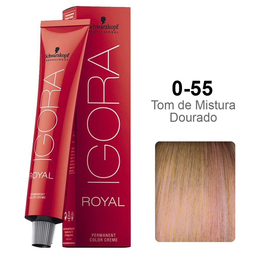 Igora Royal 0-55 Tom de Mistura Dourado