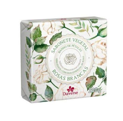 Davene Sabonete Vegetal Rosas Brancas