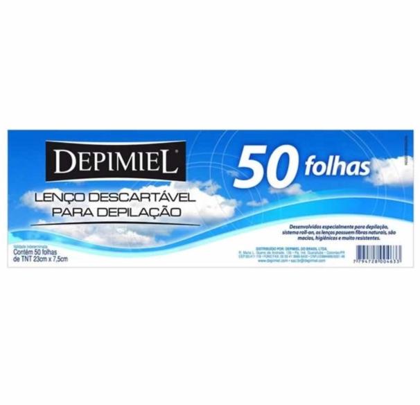 Depimiel Lenço Descartável para Depilação 50 und