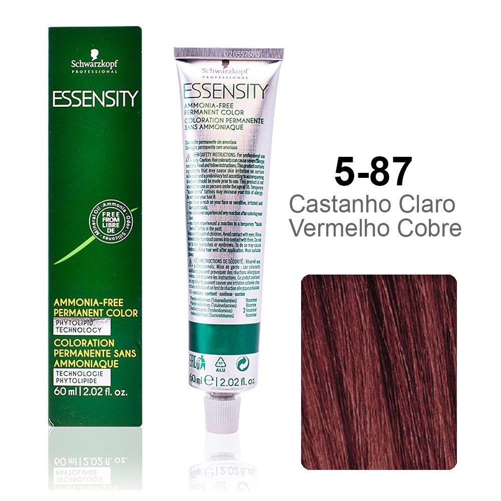 Essensity 5-87 Castanho Claro Vermelho Cobre