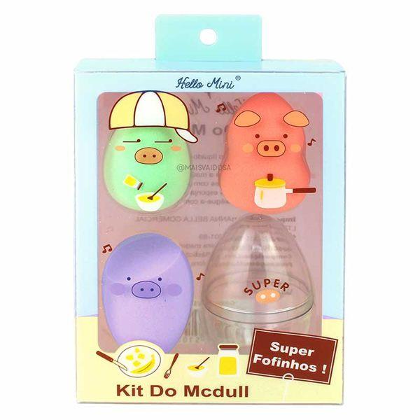 Hello Mini Kit de Esponjas para Maquiagem Mcdull